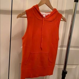 Alice and Olivia Cashmere Sleeveless Hoodie (S)